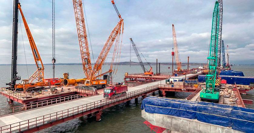 Строительство Крымского моста 2018